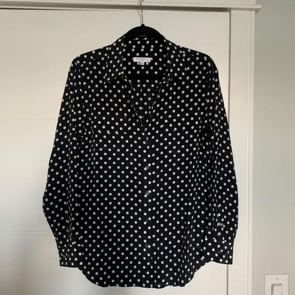 Equipment Femme polka dot blouse SOLD